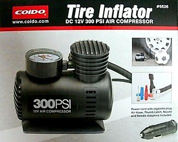 Coido 6526 Car Tyre Inflator and Air Compressor Pump (300 PSI, 12V)