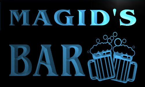 w025539-b-magid-name-home-bar-pub-beer-mugs-cheers-neon-light-sign