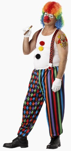 California Costume Collection Men's Cranky The Clown Costume