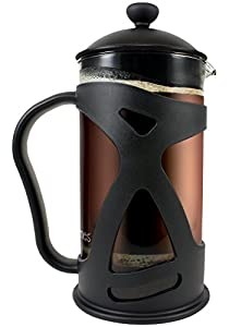 KONA French Press ~ Best Coffee Tea & Espresso Maker with 34-Ounce Heat Resistant Glass Teapot, Black ~ Perfect Present Idea for Him or Her Birthday Gifts