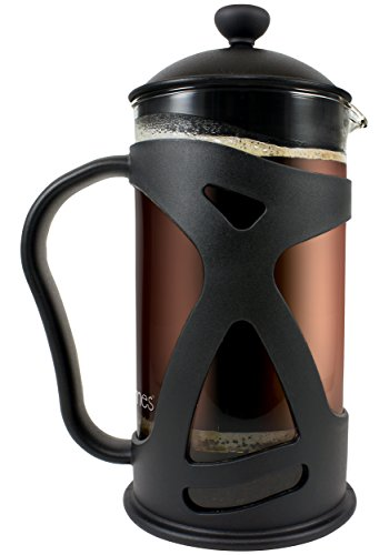 KONA French Press Coffee Tea & Espresso Maker, Black 34oz Teapot (34 Oz French Press compare prices)
