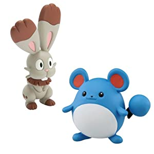 Pokemon Bunnelby vs Marrill Small Figure (2-Pack)