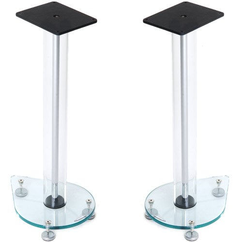 Aurora 6 Glass Speaker Stands - Height 60cm