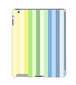 Fuson 3D Printed Colour Pattern Designer Back Case Cover for Apple iPad Air 2 - D858
