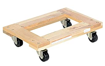 "Vestil HDOF-1624-9 Flush Deck Hardwood Dolly, 900 lbs Capacity, 24"" Length x 16"" Width x 5-1/2"" Height Deck"