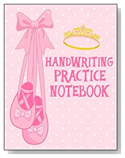 Handwriting Practice Notebook For Girls - For the little girl who loves ballet and pink, the cover of this handwriting practice notebook is sure to bring a some happy moments.