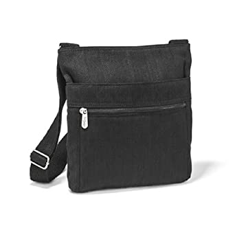 Thirty One Organizing Shoulder Bag in Black Twill Stripe - No Monogram
