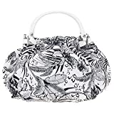 Karen Millen white & black canvas bag GJ110