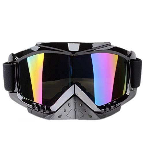 Adult Motorcycle Off-Road Dirt Bike Street Bike ATV&UTV Cruiser Adventure Touring Snowmobile Goggles Mask (Multicolor ) (Mask Chopper Motorcycle compare prices)