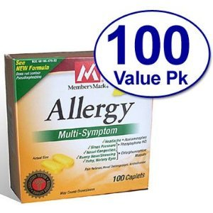 100 Caplets Allergy Multi-symptom - Compare to Tylenol Allergy Multi-symptom Active Ingredients