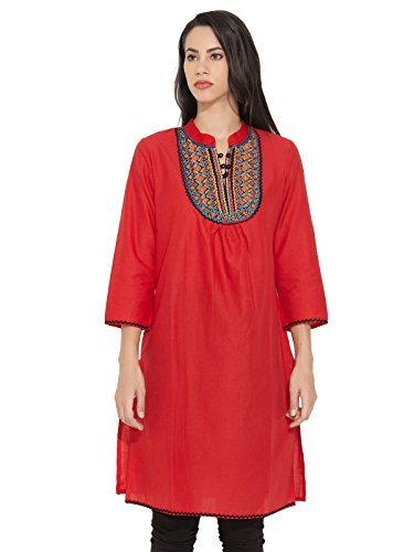 Dhwani Womens Cotton Kurti (multicolor)