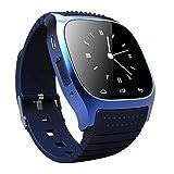 IPUIS Montre Bluetooth à Puce Intelligent Montre Wrist Watch Phone Maté Smartwatch Connectée Montre Étanche Nouveau Pour Smartphone Android IOS Bracelet Silicone (Bleu)