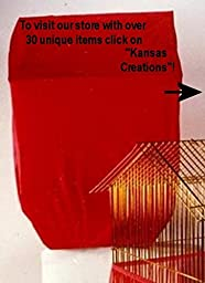Sheer Guard Bird Cage Covers - Large Size (Red)