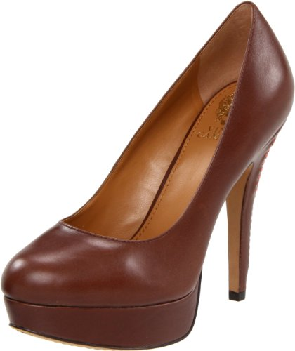 Vince Camuto Women's Maari Platform Pump,Brown Sugar/Grapefruit,7.5 M US