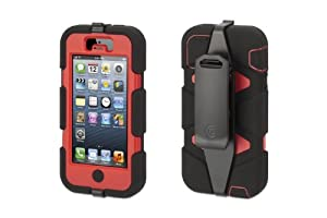 Griffin Survivor Case for iPhone 5 - 1 Pack - Retail Packaging - Black/Red at Sears.com