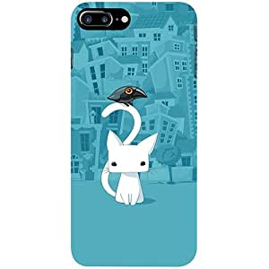 Casotec City Cat Design 3D Printed Hard Back Case Cover for Apple iPhone 7 Plus