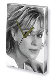 AMANDA TAPPING - Canvas Clock (LARGE A3 - Signed by the Artist) #js001