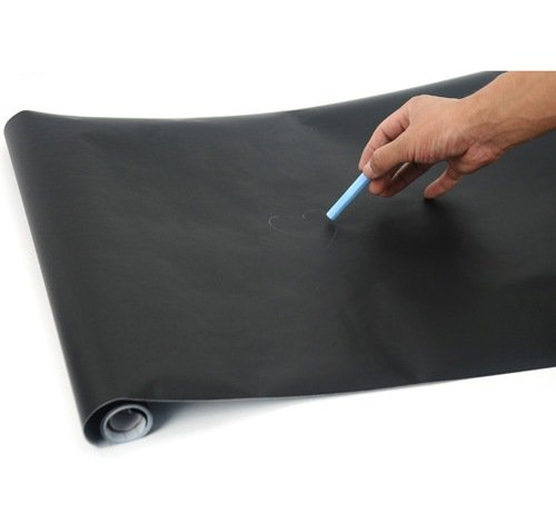 Sticky Back Chalkboard Black Contact Paper Roll 18 * 78 Inchs - 1