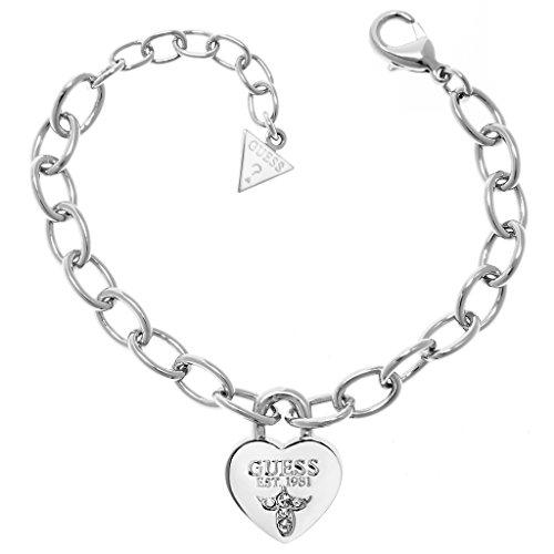 Guess Damen-Armband Messing Glas weiß 19.0 cm - UBB21567-S thumbnail