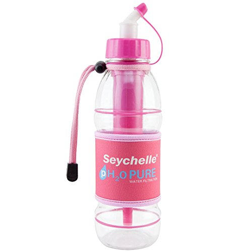 Seychelle pH2O PURWATER Alkaline Water Filter Sports Bottle Pink 20 fl. oz. (Le Water Filter compare prices)
