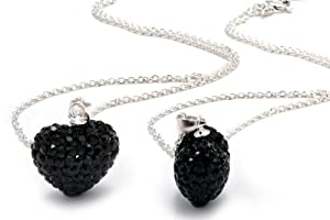 Authentic Black Diamond Color Heart Shape Pendant Crystals. Now At Our Lowest Price Ever but Only for a Limited Time!(chain Not Included)