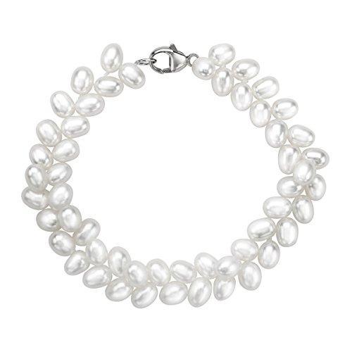 Honora 5 mm Oval Freshwater Cultured Pearl Herring…