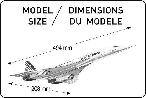 Heller 80445 modellino da costruire aereo concorde for Modellino concorde