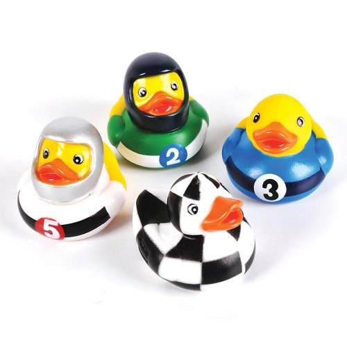 12 Race Car Rubber Ducks - 1