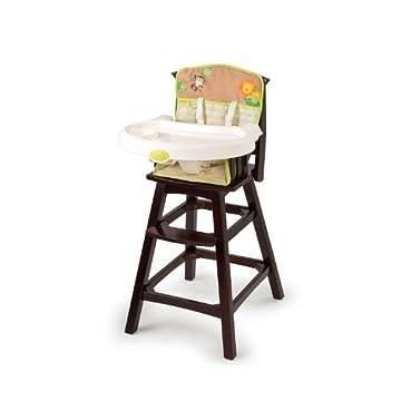 Summer Infant Classic Comfort Wood High Chair - Swingin Safari