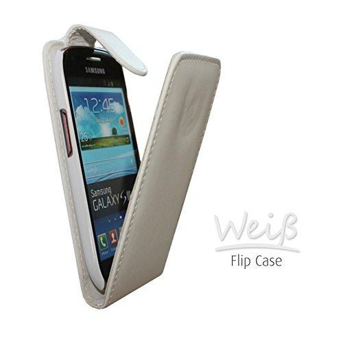 Flip Case Tasche Hülle Etui Handytasche Schutzhülle Cover in weiss / white für Samsung Galaxy Mega 6.3 GT-i9200 / GT-i9205