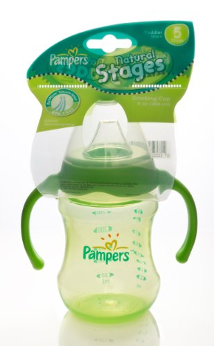 Pampers Natural Stages Drinking Cup with Airwave Venting System, Stage 5, 9 Ounces, Colors May Vary (Discontinued by Manufacturer)