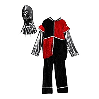 Black & Red Knight Dress-Up Set (Choose Size)