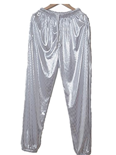 Jade Silver sequin pants Trousers hip hop pants harem pants for women men (Sequin Harem Pants compare prices)