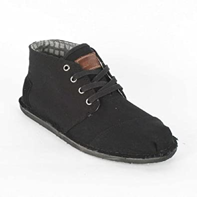 Toms - Mens Black Canvas Desert Botas Shoes, Size: 14 D(M) US, Color: Black