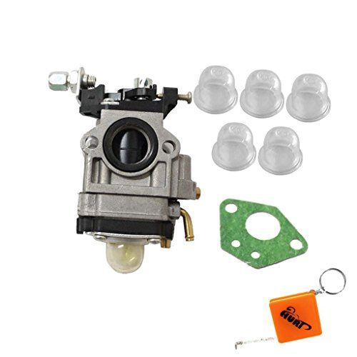 HURI Carburetor with Primer Blub Gasket for 2 Cycle 43cc Powermate PCV43 Tiller (Carburetor Primer compare prices)