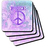 41qoOI7qqjL. SL160  Vintage World Maps Reviews Vintage Purple World Peace Map   Set Of 4 Ceramic Tile Coasters