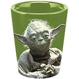 Vandor 99018 Star Wars Yoda Ceramic Shot Glass, Green ,
