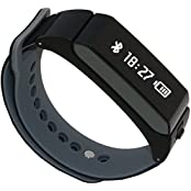 AFyou Smart Bracelet Watch Bluetooth Wireless Fitness Headphones Wristband For IOS And Android Silica Gel Black...