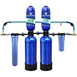 10-Year, 1,000,000-Gallon Whole House Water Filter + SimplySoft Salt-Free Water Softener with Pro Install Kit