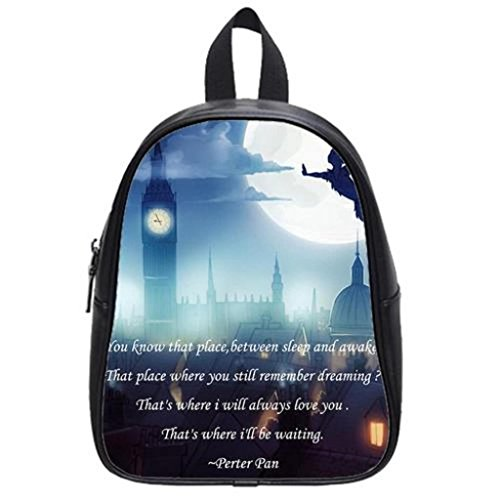 Peter Pan Custom Soft PU Backpack School Bag Travel Bag Large (Peter Pan Backpack compare prices)