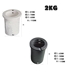 YIYATOO High Purity Graphite Crucible Casting Melting Gold Silver Scrap Casting Mould. Kit. (2kg)