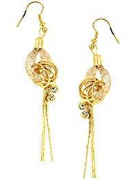 The Jewelbox Dainty Rose Gold Plated American Diamond CZ Dangling Earring For Women