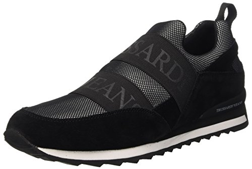 Trussardi Jeans 77S20351, Scarpe Low-Top Uomo, Multicolore (Black/White), 41 EU