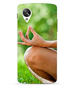 Make My Print Yoga Printed Multicolor Hard Back Cover For LG Google Nexus 5X