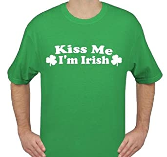 Kiss Me I'm Irish , Heavy Cotton Green T-Shirt, X-Large