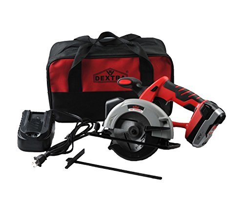 Dextra-15177-18-Volt-Lithium-Ion-Cordless-Circular-Saw-Kit-with-1-Cutting-Blade-1-Guiding-Ruler-1-Battery-Charger-and-Storage-Bag