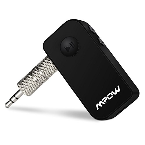 Bluetooth Receiver, Mpow Portable Bluetooth 3.0 Receiver A2DP Wireless Adapter for Home/Car Audio Music Streaming Sound System /Bluetooth Car Kits with 3.5 mm Stereo Output (Cool Black)