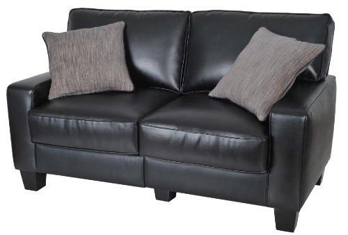Serta Cr-43877P Santa Rosa Collection 60Inch Love Seat, Black front-631538