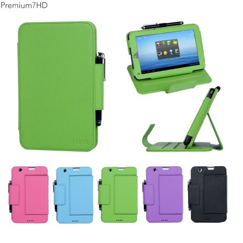 "I-Unik Nextbook 7"" Premium 7Hd 8Gb (Nx007Hd8G) Pu Leather Protection Case (08/2013 Wal-Mart Release) - (Lime Green)"