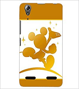 PrintDhaba Mickey Mouse D-1377 Back Case Cover for LENOVO A6000 PLUS (Multi-Coloured)